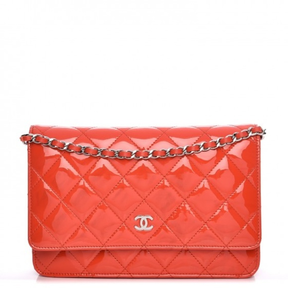fd23ab48a899 CHANEL Bags | Patent Quilted Wallet On Chain Woc Red | Poshmark